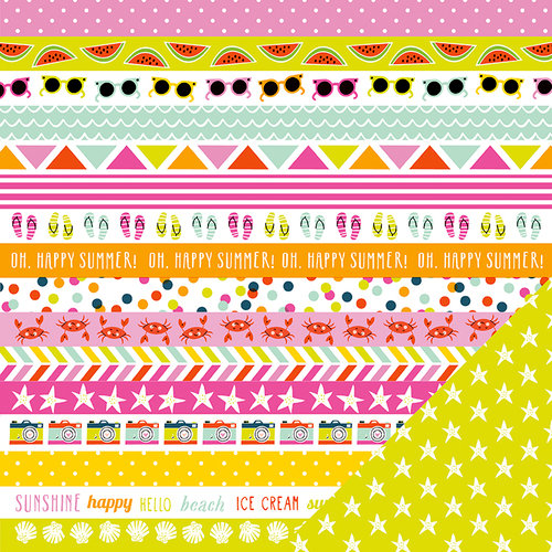 Imaginisce - Sunny Collection - 12 x 12 Double Sided Paper - Hello Sunshine