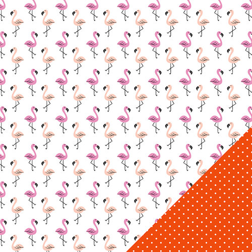 Imaginisce - Sunny Collection - 12 x 12 Double Sided Paper - Flamingo Party