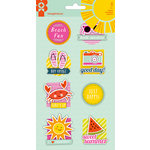 Imaginisce - Sunny Collection - Stickers Stackers - 3 Dimensional Stickers