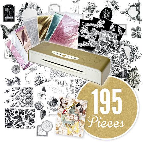 American Crafts - 6 Inch MINC Mini Foil Applicator Kit - 195 Piece Bundle