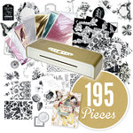American Crafts - 6 Inch MINC Mini Foil Applicator Kit - 195 Piece Bundle