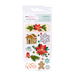 American Crafts - Dear Lizzy Christmas Collection - Remarks - Sticker Sheets - Mittens - Accents