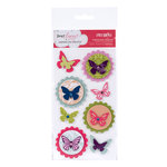 American Crafts - Dear Lizzy Enchanted Collection - Remarks - 3 Dimensional Stickers - Piccolo, CLEARANCE