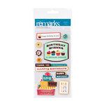 American Crafts - Confetti Collection - Remarks - 3 Dimensional Stickers - Pinata Phrases