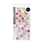 American Crafts - Peachy Keen Collection - Remarks - Sticker Book - Audrey Letters - Large