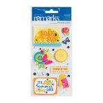 American Crafts - Margarita Collection - Remarks - 3 Dimensional Stickers - Paradise