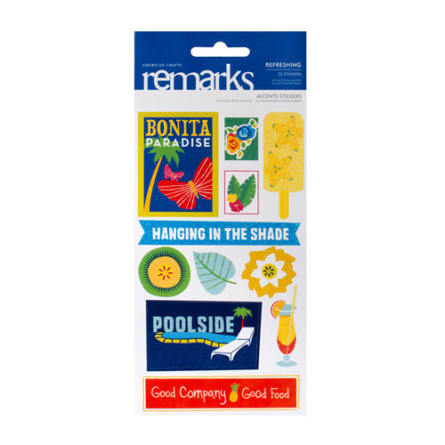 American Crafts - Margarita Collection - Remarks - Sticker Sheets - Refreshing