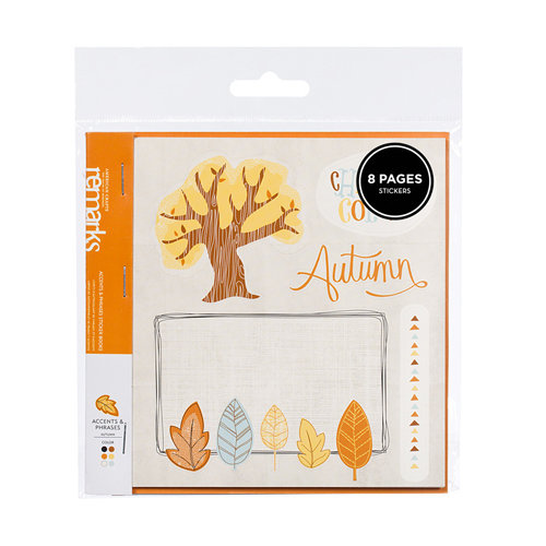 American Crafts - Nightfall Collection - Halloween - Remarks - Sticker Book - Autumn