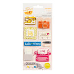 American Crafts - Amy Tangerine Collection - Remarks - 3 Dimensional Stickers - Hi Friend