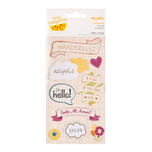 American Crafts - Amy Tangerine Collection - Remarks - Fabric Stickers - Dreaming