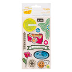 American Crafts - Amy Tangerine Collection - Sketchbook - Remarks - Fabric Stickers - Paint