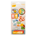 American Crafts - Amy Tangerine Collection - Ready Set Go - Remarks - 3 Dimensional Stickers - Sure Thing