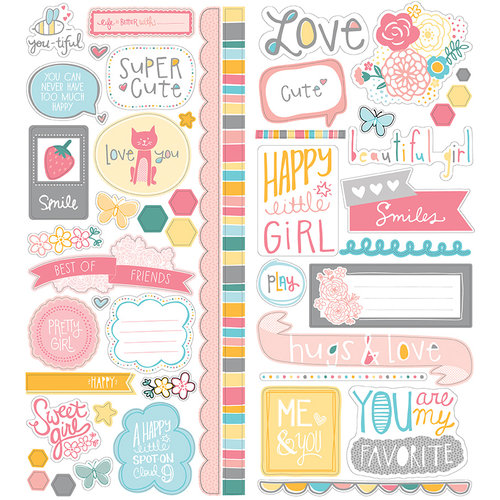 American Crafts - My Girl Collection - Remarks - Cardstock Stickers - Sweetie
