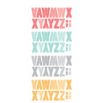 American Crafts - Amy Tangerine Collection - Yes, Please - Remarks - Transparent Letter Stickers - Life