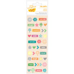 American Crafts - Amy Tangerine Collection - Yes, Please - Remarks - Tiny Matte Puffy Stickers - Discover