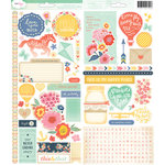 American Crafts - Dear Lizzy Lucky Charm Collection - Sticker Sheet