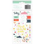 American Crafts - Dear Lizzy Lucky Charm Collection - Rub On Transfers