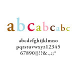American Crafts - Remarks - Cardstock Letter Stickers - Serendipity - Color Set 4