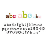 American Crafts - Remarks - Cardstock Letter Stickers - Whistlestop - Color Set 4, CLEARANCE