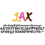 American Crafts - Remarks - Alphabet Stickers Book - LAX - Color Set 1 and 2