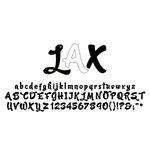 American Crafts - Remarks - Alphabet Stickers Book - LAX - Neutral 1