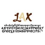 American Crafts - Remarks - Alphabet Stickers Book - LAX - Neutral 2