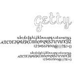 American Crafts - Remarks - Alphabet Stickers Book - Getty - White