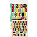American Crafts - Remarks - Alphabet Stickers Book - Moma - Color Set 3, CLEARANCE