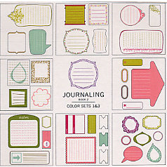 American Crafts - Remarks - Stickers Book - Journaling 2 - Color Sets 1 and 3