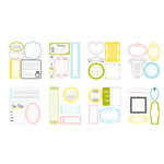 American Crafts - Baby Collection - Remarks - Journaling Sticker Book - Baby Li'l Tyke - Color, CLEARANCE