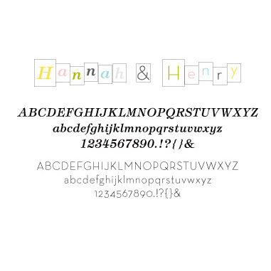 American Crafts - Baby Collection - Remarks -Transparent Letter Sticker Book - Hannah & Henry - Color