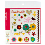 American Crafts - Craft Fair Collection - Remarks - Transparent Accents Sticker Book - Craft Fair Fruit - Color, CLEARANCE