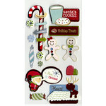 American Crafts - Merrymint Collection - Christmas - Remarks - 3 Dimensional Stickers - Fruitcake, BRAND NEW