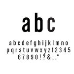 American Crafts - Remarks - Thickers Foam Letter Stickers - Daiquiri Black