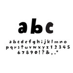 American Crafts - Remarks - Thickers Foam Letter Stickers - Eggnog Black, CLEARANCE