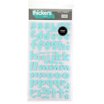American Crafts - Remarks - Thickers Foam Letter Stickers - Eggnog Blue