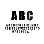 American Crafts - Remarks - Thickers Foam Letter Stickers - Latte Black, CLEARANCE
