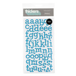 American Crafts - Thickers - Vinyl Letter Stickers - Sprinkles - Blue, CLEARANCE