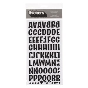 American Crafts - Thickers - Chipboard Letter Stickers - Prancer - Black