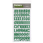 American Crafts - Thickers - Chipboard Letter Stickers - Prancer - Dark Green