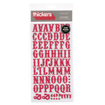 American Crafts - Thickers - Chipboard Letter Stickers - Platforms - Red