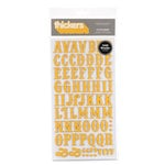 American Crafts - Thickers - Chipboard Letter Stickers - Platforms - Orange