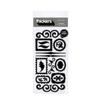 American Crafts - Thickers - Chipboard Shape Stickers - Accents - Black, CLEARANCE