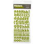 American Crafts - Thickers - Felt Letter Stickers - Playroom - Cucumber