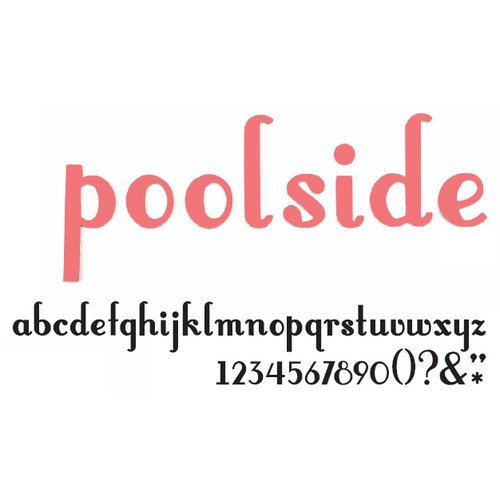 American Crafts - Thickers - Vinyl Letter Stickers - Poolside - Grapefruit