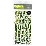 American Crafts - Thickers - Tinsel Foil Chipboard Alphabet Stickers - Cricket