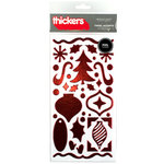 American Crafts - Thickers - Tinsel Accents - Foil Chipboard Stickers - Cherry, CLEARANCE