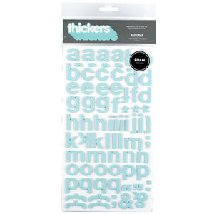 American Crafts - Foam Thickers - Subway - Powder, CLEARANCE