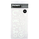 American Crafts - Foam Thickers - Subway Accents - White, CLEARANCE