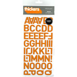 American Crafts - Thickers - Fabric Letter Stickers - Dolce - Apricot, CLEARANCE